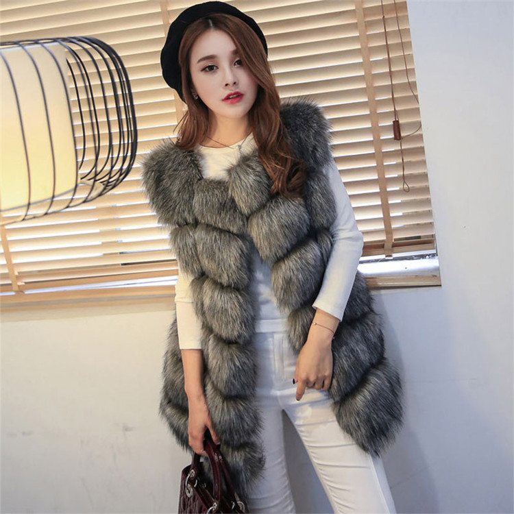 New Winter Women Natural Real Fox Fur Coat Long Jacket Outwear Fashion Popular Ladies Warm Fox Fur Coats