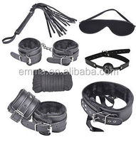 Adult games sex product for men and women leather restraints sex toy fetish bondage kit HK14265
