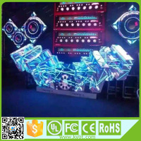 Cool design p5 RGB led video wall dj booth for bar club