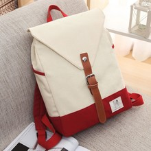 custom leisure cheap soft vintage school canvas backpack for men and women