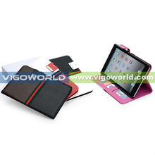 Dual-colors stylish PU case/smartcover for iPad mini, with rubberized PC case