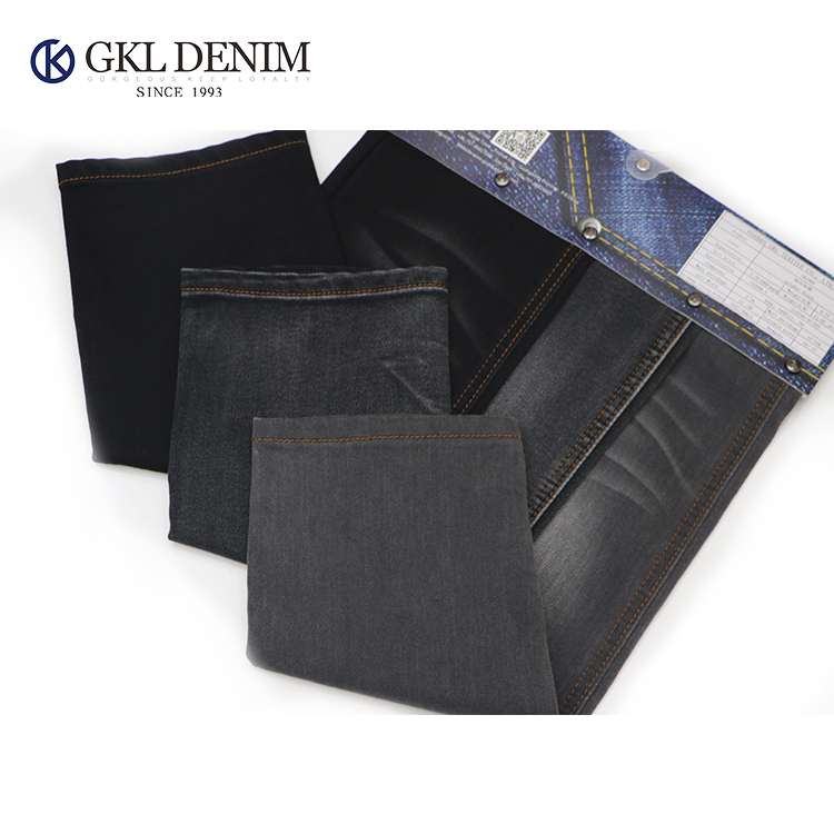 China Supplier Fashion Mens Classic Sulfur Black Pocketing Denim Fabric For Jeans