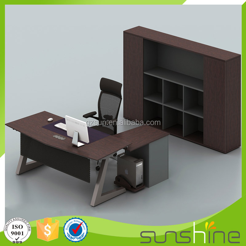 KB-MED02 2016 Best Selling Top Quality Office Furniture/Supervisor Office-Metal Frame Middle Executive Desk