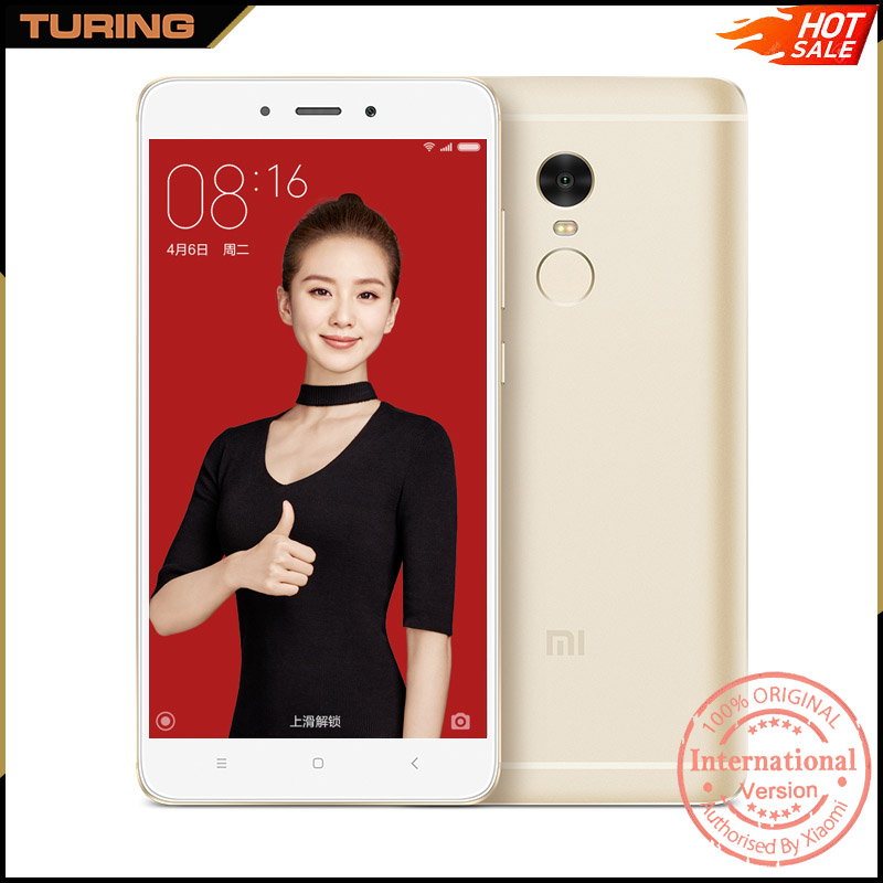 Xiaomi Redmi Note 4 Red Mi Note4 5.5 Smart With Stylus Custom Mobile Phone 2GB RAM 16GB ROM MIUI 8 Android 6.0 13MP