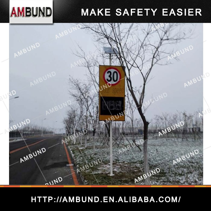Solar Solar Power Speed Radar Sign LED Display speed limit sign warning detector Radar Speed Sign
