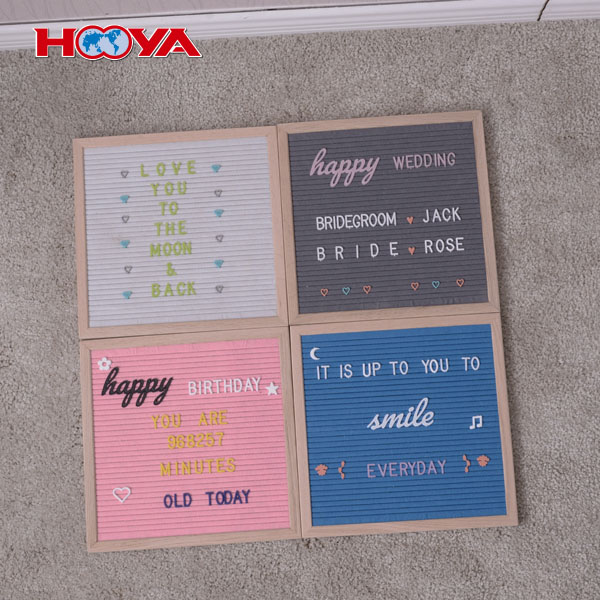 10X10 inch MDF frame 290 changeable 3/4 inch plastic letters handcraft felt letter board