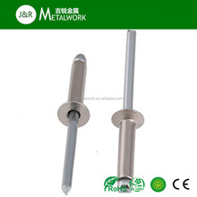 M20 M25 A2 A2-70 A2-80 A4 SS304 SS316 Stainless Steel Countersunk Head Open End Pop Blind Rivet DIN 7337