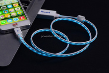 LED Glow USB running light charging cable for MFI 8 pin SYNC Cable