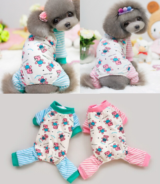 Dog 2015 Lovable Bear Print Dog Apparel Wholesale Pet Products Dogs Clothing