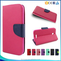 Factory Direct Price TPU+PU Leather Foldable Phone Flip Wallet Case For HTC Desire 510