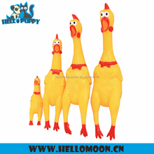 HELLOPUPPY Squeaky Funny Custom Rubber Chicken For Dog Toy