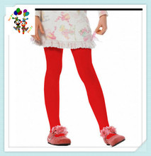 Cheap Party Fancy Kids Girls Red Opaque Tights HPC-3042