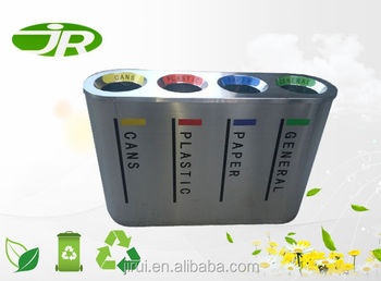 outdoor airport decorative stainless steel recycling bins