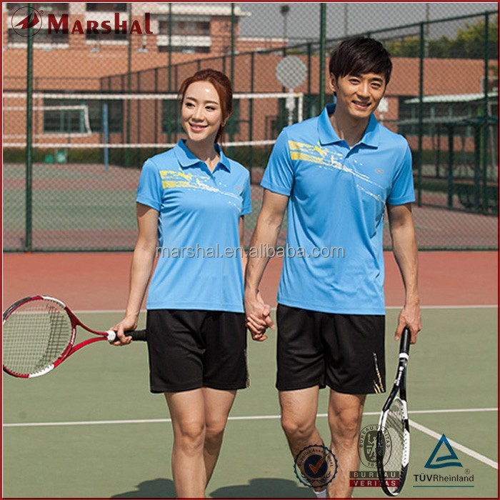 Table Tennis Shirt Badminton Sport Shirt,Design of Unisex Polo Shirt,Wholesale Uniforms