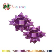 Wholesale pre-made satin ribbon star bows for gift packing