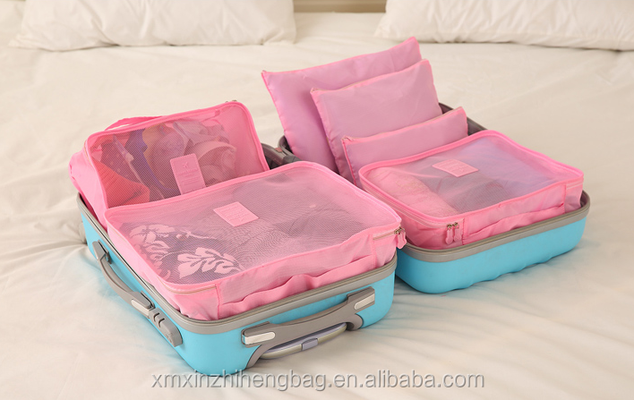 Alibaba China Travel Packing Organizer Bag Packing Cubes Clothing storage bag for girls