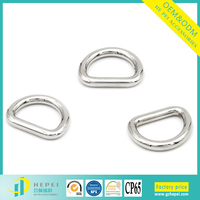 Fashion Fully Polished Silver Clip Adjustable Metal Buckle D Ring