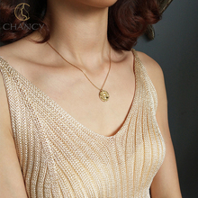 new design LEO pendant 925 silver <strong>necklace</strong> in gold for women and girls