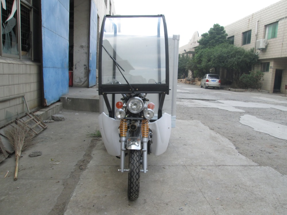 New fully closed 3 wheel motor tricycle for cargo