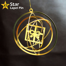 Manufacture Custom Metal Gift Gold Color Brass Hanging Ornament for Christmas