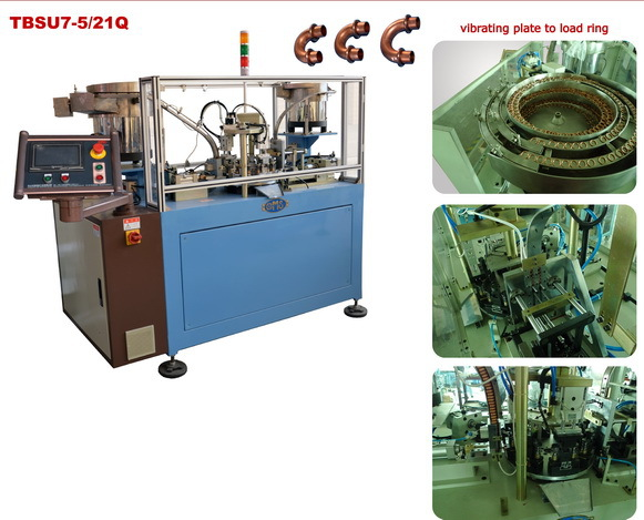 Ring inserted loading machine for return bend ring