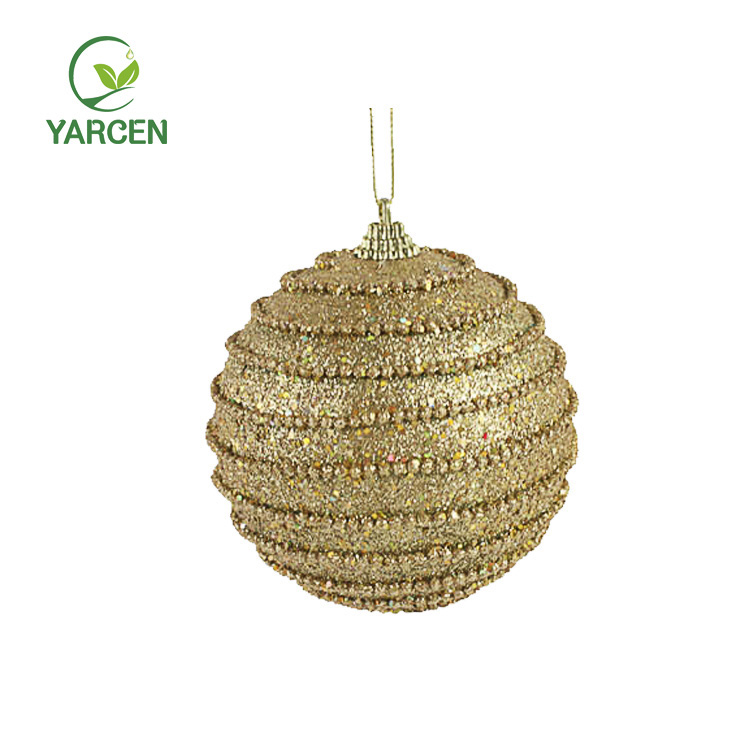 Hot sale high quality 10CM Foam Gold Powder Christmas Ball
