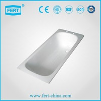 FERT steel enamel bathtub manufacturers 1700*700*330 stainless steel bathtub