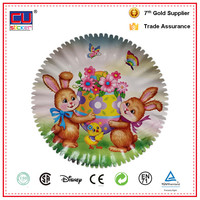 Customized offset printing flower design paper plates