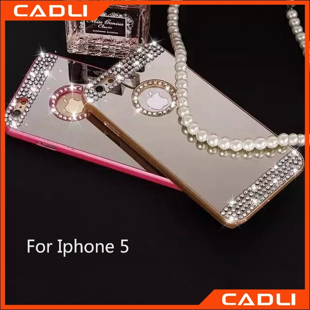 Top sell diamond-studded mobile phone case design your own cell phone case 3D phone case for Iphone 5 5s
