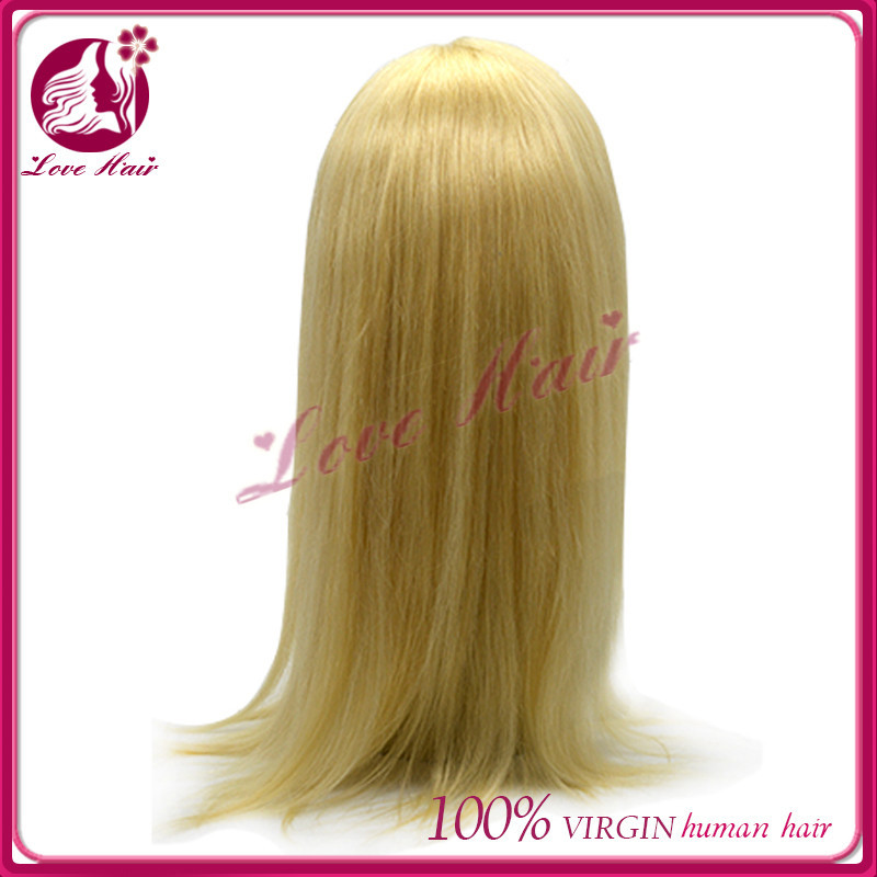Stores sell 7a brazilian virgin hair crazy colored bleach blobde 613hair extensions hair decoration full lace wig