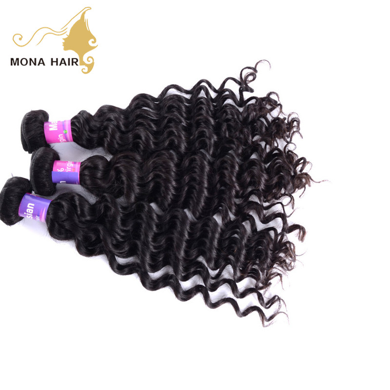 top quality full head clip in human hair extension deep curl texture cheap malaysian hair