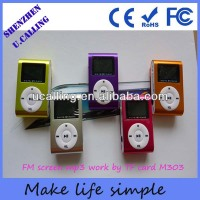 Good quality oled screen mp3 with FM,free download mp3 mp4 players