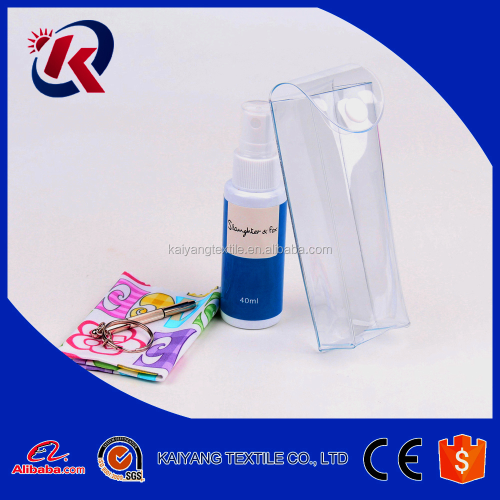 30ml 40ml anti static PE bottle lens spray cleaner OEM logo lens liquid spray cleaner kit