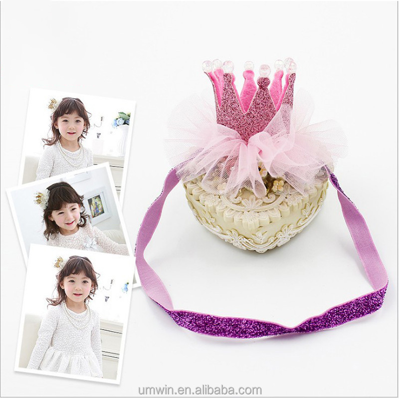 Kids Lovely Grenadine Hairband Baby Cute Crown Alice Band Hair Accessory AB010