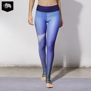 Printed Stretch Sport Fitness Leggings Lycra Yoga Pants Footed Running Tights
