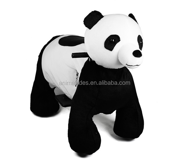 MZ5911 China panda plush toy electric animal scooter ride sibo animals robot rider on sale