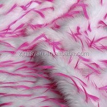 Spiked long pile plush shaggy fur fabric