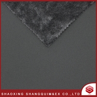 100% polyester sherpa suede bonded fabric for garment