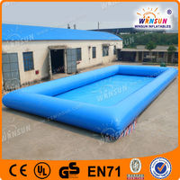 Commercial inflatable rectangular plastic pool