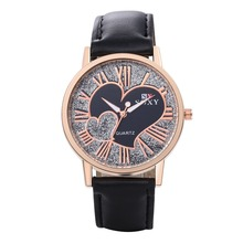 SJWH0033A SJ Unique Personalized Design Couple Wristwatch Leather Watch Strap Heart to Heart Dial Fashion Lover Quartz Watch
