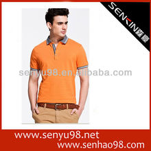 Cotton pique embroidered polo t shirt for men