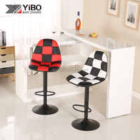 Industrial metal high pu leather high back top design waterproof bar stool/bar chair modern design
