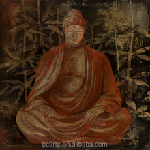 canvas wall art exhibition display buddha face oil painting without frame