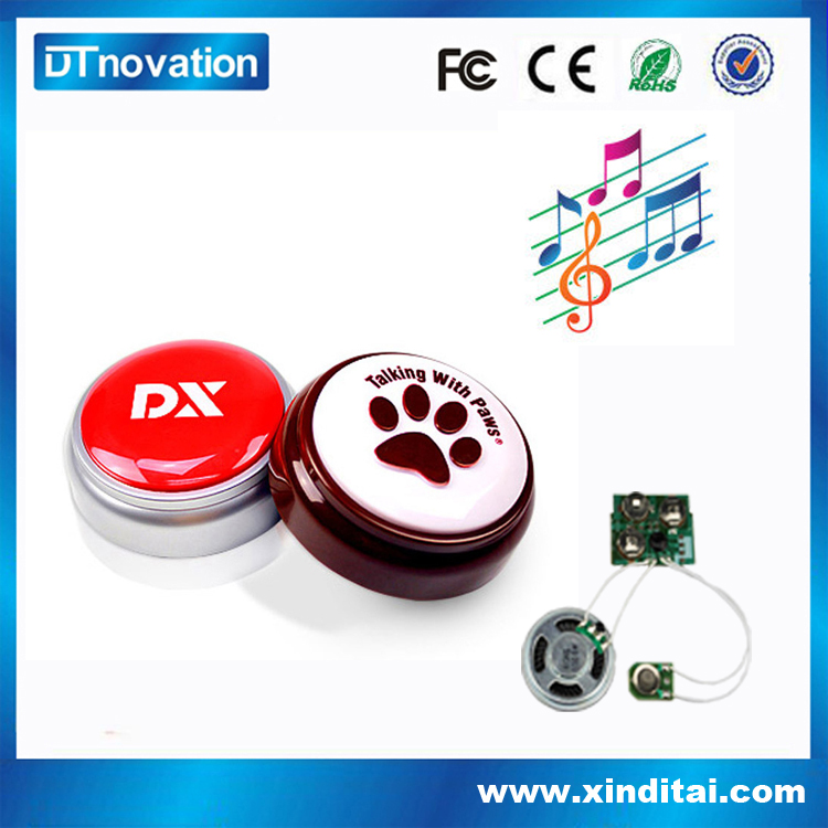 Promotional pushing sound talking message box custom button