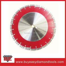 Multi function concrete and granite cutting disc with turbo type segments