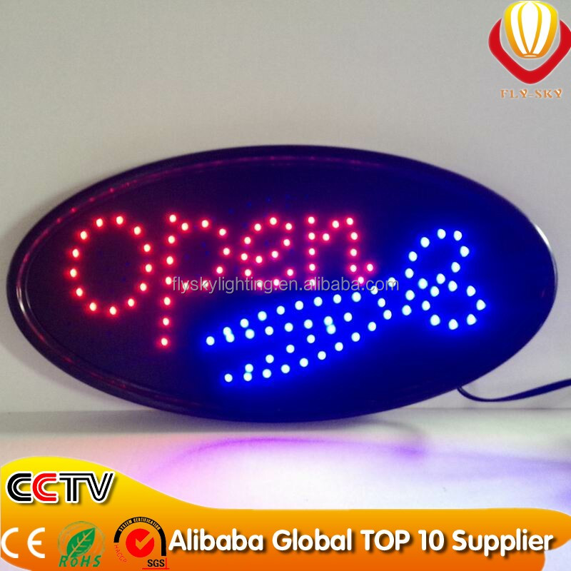 alibaba express OEM & ODM allowed super brightness & catching eyes oval and square led open sign