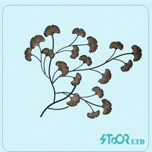 Price logo wholesale brown modern dragonfly crown scroll metal wall decoration