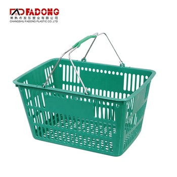 Two Handle Plastic Storage Basket Cheap Wholesale Baskets capacity basket