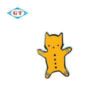 Personalized cute little cat souvenir hard enamel pin badge