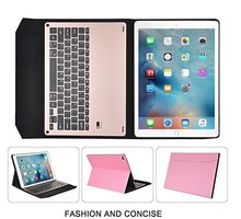 fashion style 2-in-1 Aluminum Metal Bluetooth Keyboard+Leather Case For Apple iPad Pro 12.9""
